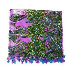 CindyStylist-Pareo-Mare-Donna-Foulard-Pashmina-Cashmere-Colore-ViolaTurchese-100-Cotone-176105-cm-B07FQPNCWM-3